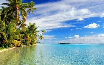 tropical wallpaper beach island wallpapers paradise reflections