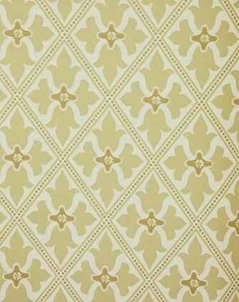 Yellow Trellis Wallpaper Bayham Abbey Wallcovering English