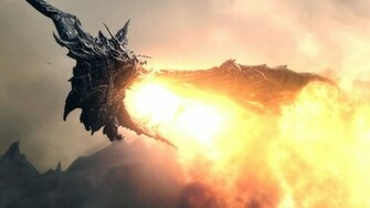 Skyrim Dragon HD wallpapers