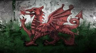 Download wallpaper 1920x1080 wales dragon symbol flag paints