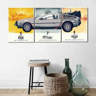 Back Future Classical Movie Anime Wallpaper Art Canvas Poster