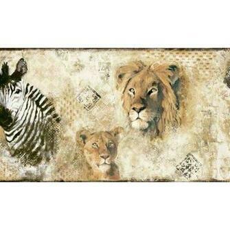 Wild Kingdomn Jungle Animals Wallpaper Border Home