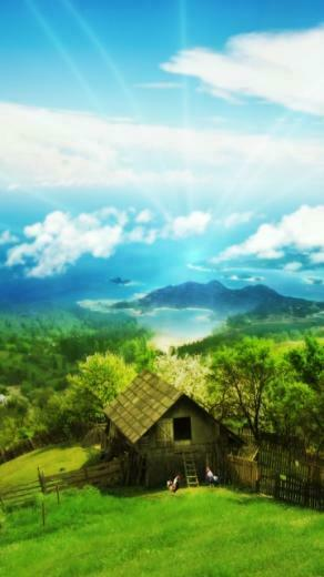 Nature House For Windows Lenovo Mobile Wallpapers 360x640 Hd Wallpaper