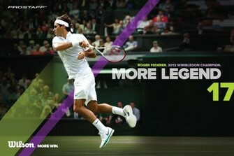 2012 Wimbledon Champion ATP Tour World 1 Roger Federer plays with