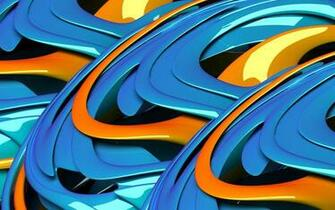Download Blue and orange waves wallpaper