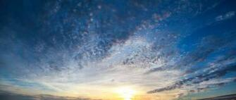 sunset high resolution stock photo large wallpaper blue gold clouds