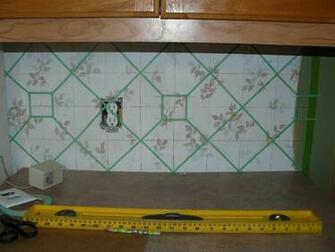 Abide in me and I in you Faux Tile Backsplash Project