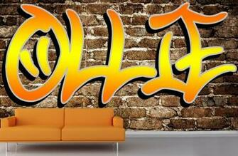 custom name graffiti wallpaper mural custom made to fit your wall size
