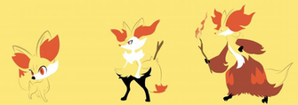 Fennekin Braixen Delphox by SuicideParker on