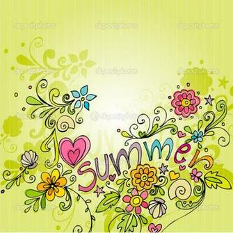 Twitter Summer Backgrounds Cute Doodle Summer Background