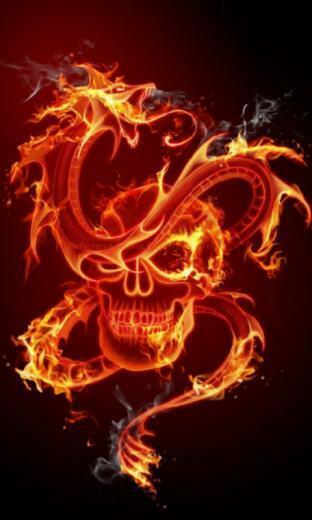 Fire Skull 3D Live Wallpaper   screenshot