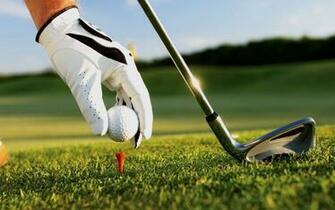 Golf Ball On Grass Macro Wallpaper HD 5774 Wallpaper High