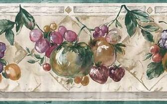 Kitchen fruit wallpaper border ebay