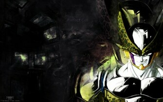 perfect cell wallpaper by marvelousmark fan art wallpaper movies tv