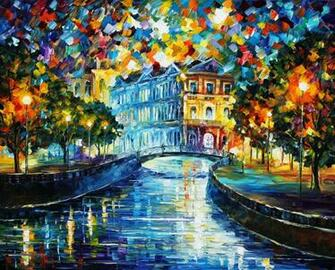 paintings Leonid Afremov oil painting Wallpapers