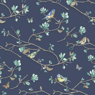 Dcor Kira Bird Butterfly Pattern Floral Flower Motif Wallpaper 98120