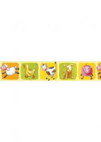 Farm Animals Wallpaper Border with Sheep Ducks pigs and cows