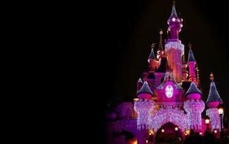 Misc   Disneys Cinderella Castle by Night   Desktop