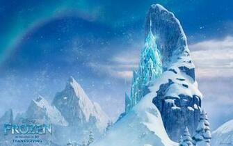 Elsas ice castle from the Disney CG animated movie Frozen Disneys