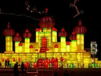 Harbin Ice Lantern Art Fair Wallpaper   Harbin Ice Festival
