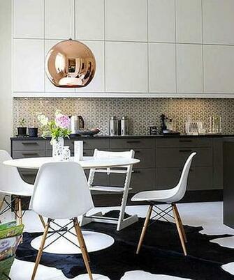 Wallpaper backsplash via Apartment Therapy