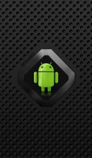 In This live wallpaper a beautiful Android with Black flames and