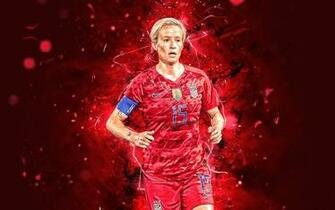 Download wallpapers Megan Rapinoe abstract art USA National Team