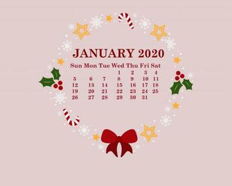 January 2020 HD Calendar Wallpaper Desktop calendar January
