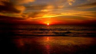 Beautiful Ocean Sunset Wallpaper for PC Full HD Pictures