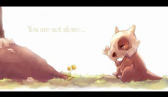 pokemon alone cubone you are not suikuro HD Wallpaper   Anime Manga