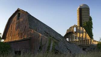 wreck decay rustic architecture buildings barn wood silo wallpaper