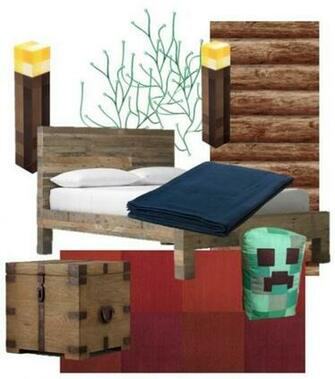 Vision for A Minecraft Themed Bedroom Apartment Therapy