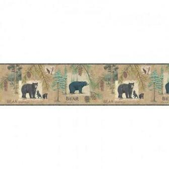 Lake Forest Lodge Bear Border   Hunting Wildlife Decor