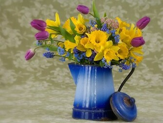 Description download spring flower arrangement wallpaper desktop