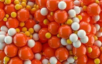 Download Orange and white balls wallpaper
