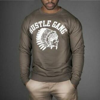 HUSTLE GANG TI SWEATSHIRT   WEHUSTLE MENSWEAR WOMENSWEAR HATS