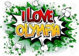 I Love Olympia   Comic Book Style Word On Comic Book Abstract