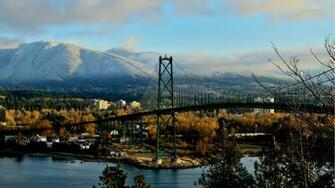 City Northshore With Lions Gate Bridge desktop wallpaper nr 6