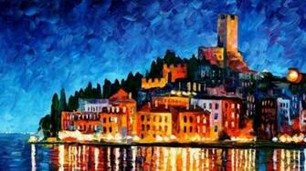 1920x1080 Art Painting City Leonid Afremov City Leonid