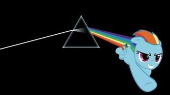 Floyd My Little Pony The Dark Side Of The Moon Rainbow Dash wallpaper