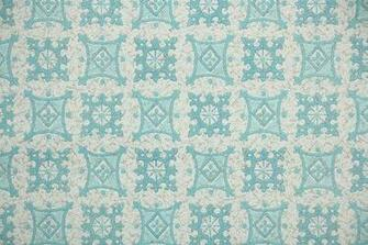 1950s Vintage Wallpaper Blue and White by HannahsTreasures
