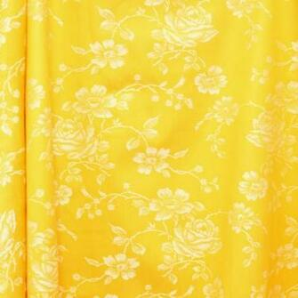 Vintage Gold French Floral Damask Brocade Bay Vintage Home