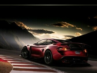 Cool Red Sports Racing Car HD Wallpaper   StylishHDWallpapers