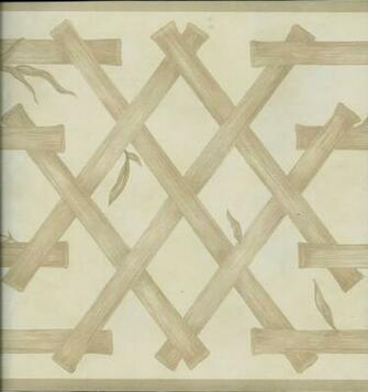 Waverly Tan Oriental Bambol Lattice Wallpaper Border eBay