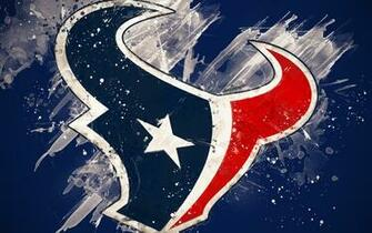Download wallpapers Houston Texans 4k logo grunge art American