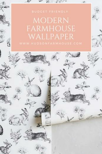Modern Farmhouse Wallpaper thats Budget Friendly