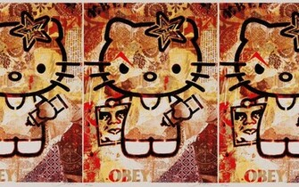 Obey Hello Kitty Wallpapers Obey Hello Kitty Myspace Backgrounds