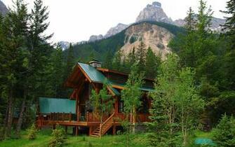 Mountain cabin wallpaper   1349986