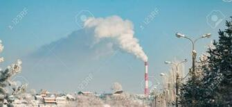 Environmental Pollution Smoke From An Industrial Pipe On A