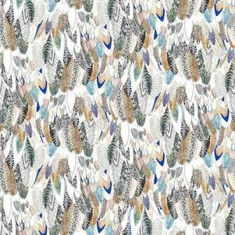 Brown Feathers New Wave Designer Bird Feather Motif Wallpaper 50 803
